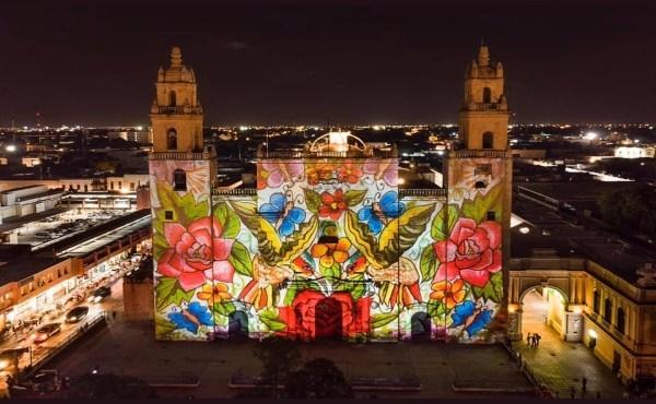 Regresa el video mapping en el centro de Mérida